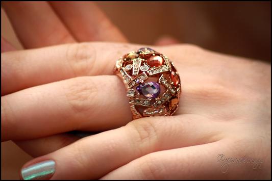 2012 Femme Fatale перстень Belle из каталога Florange Fashion Jewellery на Жене Никовой
