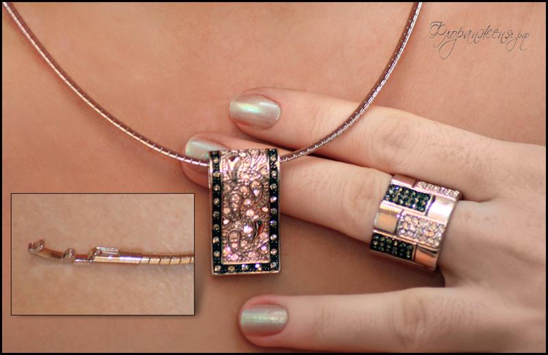ожерелье и кольцо elegante из каталога флоранж femme fatale на Жене Никовой